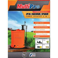 Alat Semprot Manual+Electric Sprayer 2 In 1 Multipro 16 ltr