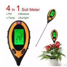 PH Meter Digital - Alat Ukur PH Tanah 4 In 1